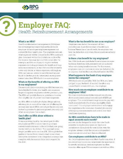 HRA Employer FAQ